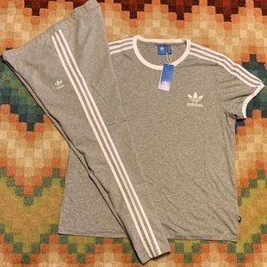 NWT Adidas Originals 3 Stripes T-shirt & Leggings